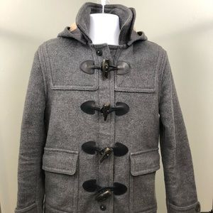 Burberry Brit Wool Toggle Closure Coat Gray
